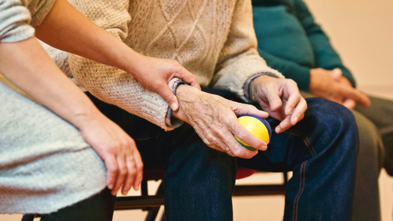 helping elderly person, Occupational Therapy, Kalamazoo, MI